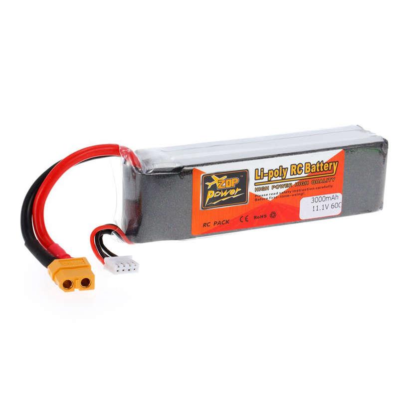 1X-ZOP-POWER-3S-11-1V-3000mah-60C-Alta-Tasa-XT60-Plug-Lipo-Bateria-Para-F330-YU miniatura 2