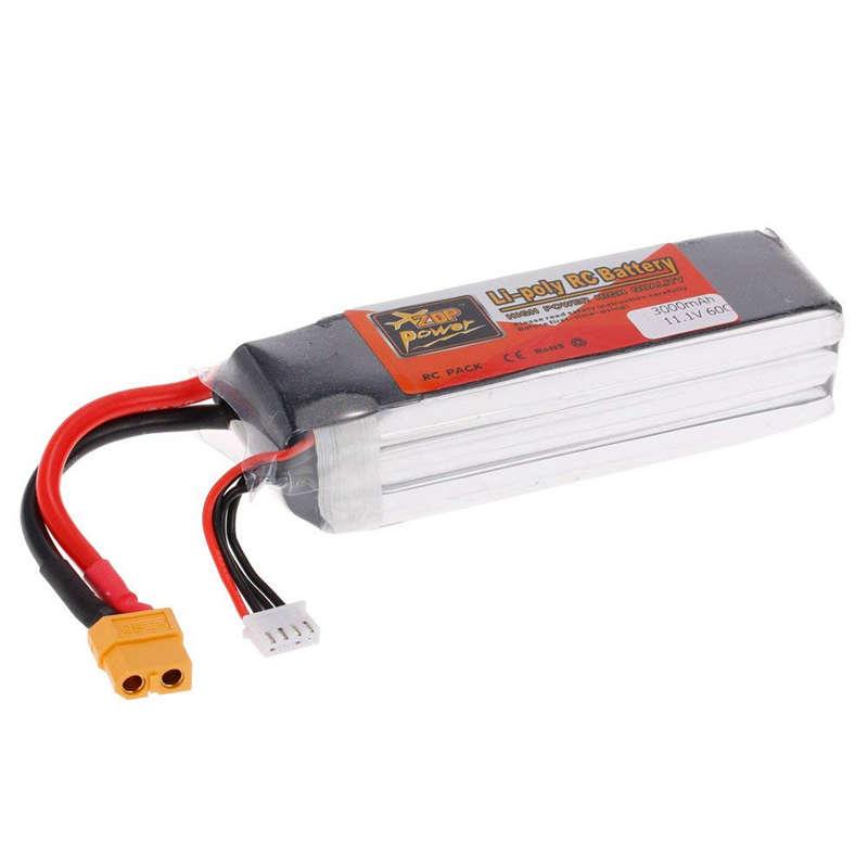 1X-ZOP-POWER-3S-11-1V-3000mah-60C-Alta-Tasa-XT60-Plug-Lipo-Bateria-Para-F330-YU miniatura 3