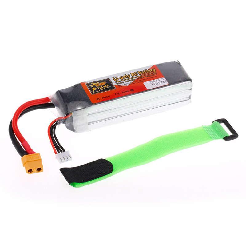 1X-ZOP-POWER-3S-11-1V-3000mah-60C-Alta-Tasa-XT60-Plug-Lipo-Bateria-Para-F330-YU miniatura 7