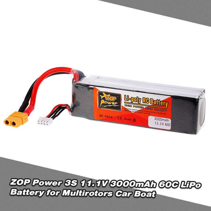 1X-ZOP-POWER-3S-11-1V-3000mah-60C-Alta-Tasa-XT60-Plug-Lipo-Bateria-Para-F330-YU miniatura 8