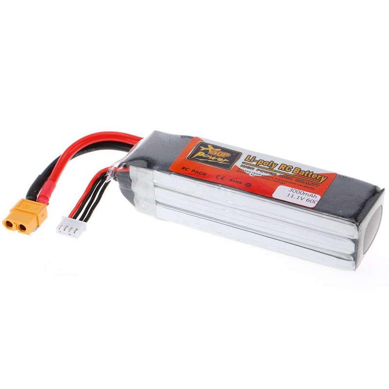 1X-ZOP-POWER-3S-11-1V-3000mah-60C-Alta-Tasa-XT60-Plug-Lipo-Bateria-Para-F330-YU