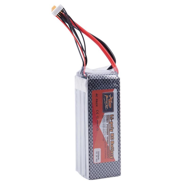 1x(zop Puissance 22.2v 6s 5500mah 40c Xt60 Lipo Batterie Pour Quadricoptère O3u7