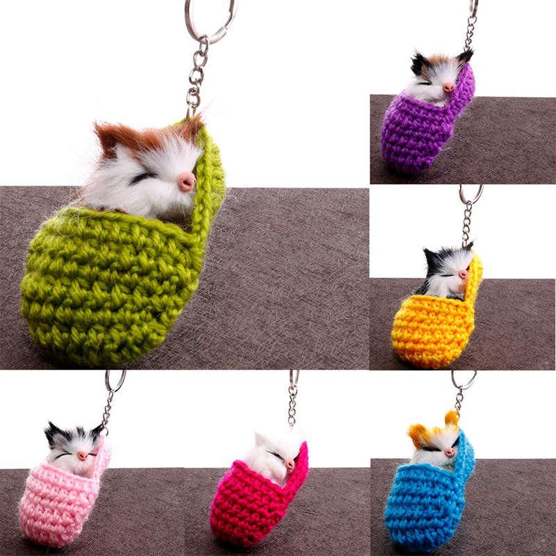 Cat-Keychain-Bag-Car-Ornament-Key-Ring-Chain-slipper-Cat-Keychain-Bag-Penda-W2J4 thumbnail 6