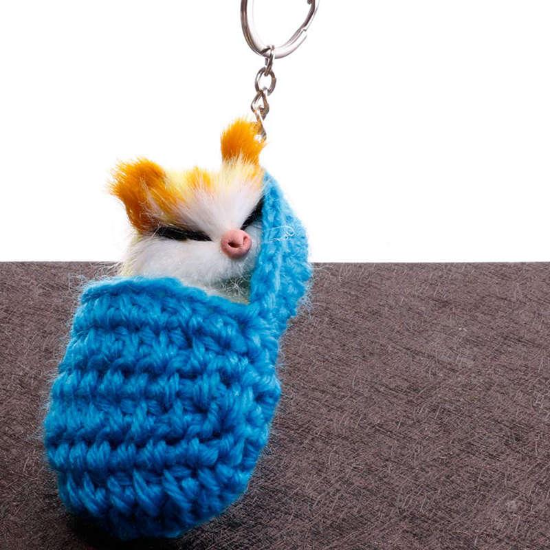 Cat-Keychain-Bag-Car-Ornament-Key-Ring-Chain-slipper-Cat-Keychain-Bag-Penda-W2J4 thumbnail 8