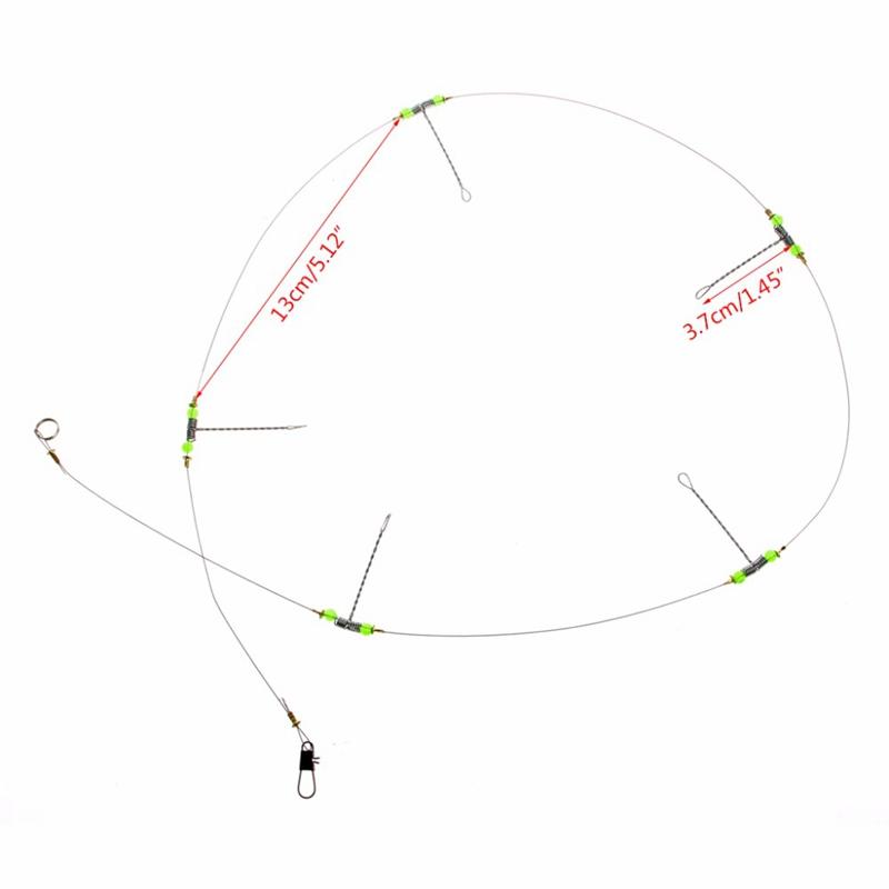 5Pcs-Fishing-Hooks-Anti-Winding-Swivel-String-Sea-Fishing-Hook-Steel-Rigs-W-S8Z2 miniatuur 3