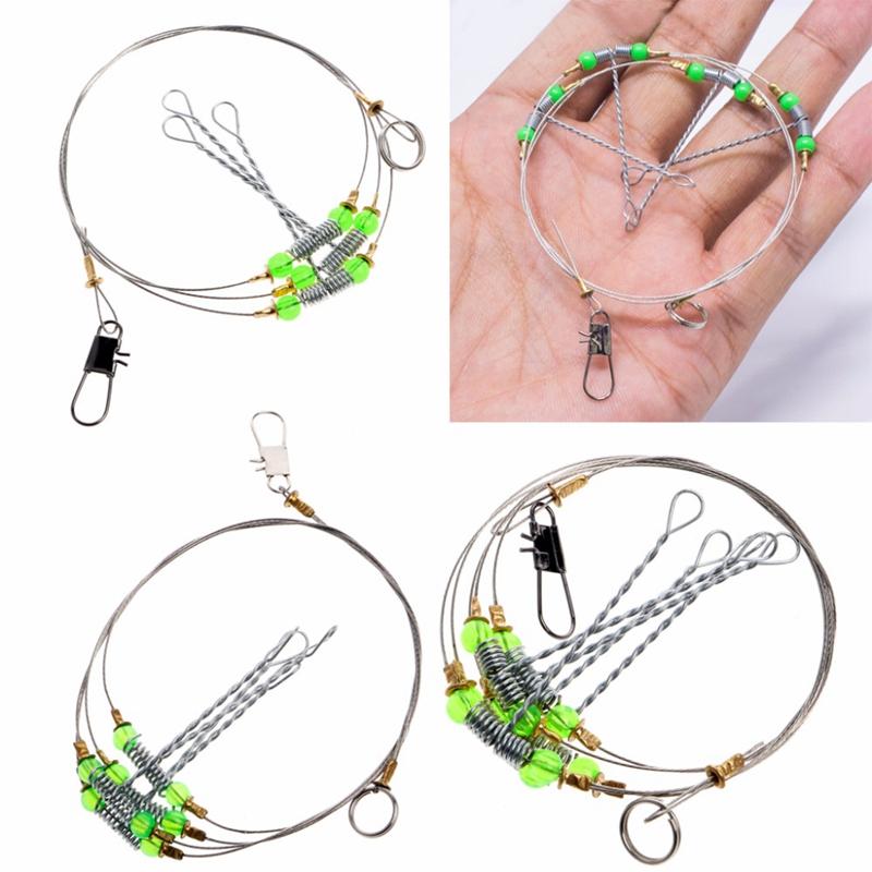 5Pcs-Fishing-Hooks-Anti-Winding-Swivel-String-Sea-Fishing-Hook-Steel-Rigs-W-S8Z2 miniatuur 4