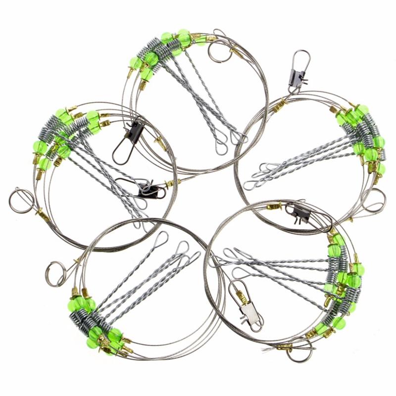 5Pcs-Fishing-Hooks-Anti-Winding-Swivel-String-Sea-Fishing-Hook-Steel-Rigs-W-S8Z2 miniatuur 5