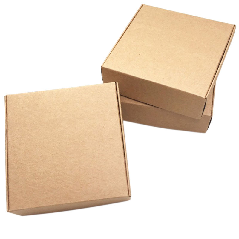 2X-100Pcs-Kraft-Paper-Box-Nice-Kraft-Box-Packaging-Box-Small-Size-G5A1 thumbnail 3