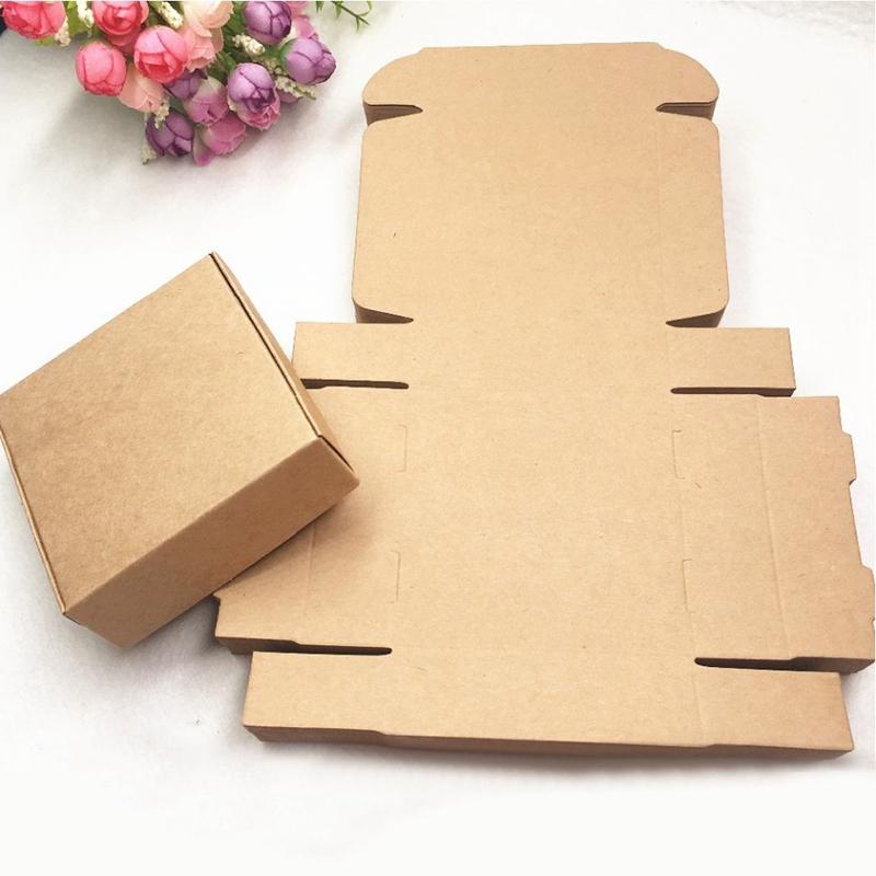2X-100Pcs-Kraft-Paper-Box-Nice-Kraft-Box-Packaging-Box-Small-Size-G5A1 thumbnail 4