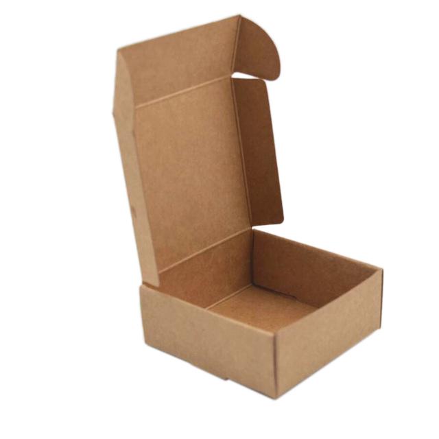 2X-100Pcs-Kraft-Paper-Box-Nice-Kraft-Box-Packaging-Box-Small-Size-G5A1 thumbnail 6