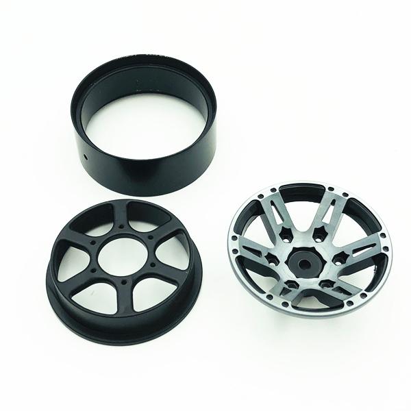 4Pcs-Rc-Rock-Roue-Roue-Jante-1-9-Pouce-Beadlock-Pour-1-10-Axial-Scx10-90046-6T4 miniature 14