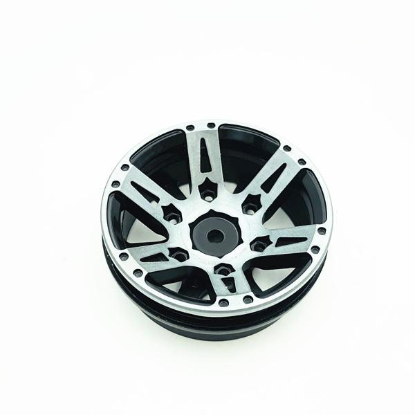 4Pcs-Rc-Rock-Roue-Roue-Jante-1-9-Pouce-Beadlock-Pour-1-10-Axial-Scx10-90046-6T4 miniature 16