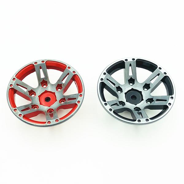 4Pcs-Rc-Rock-Roue-Roue-Jante-1-9-Pouce-Beadlock-Pour-1-10-Axial-Scx10-90046-6T4 miniature 18