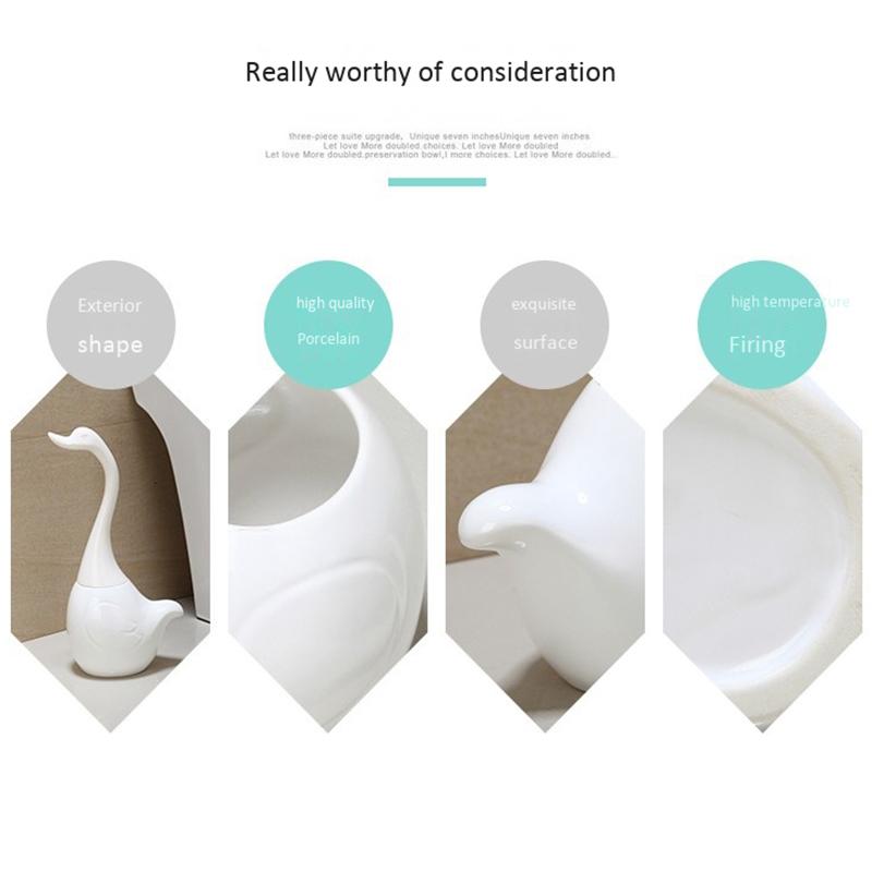 Keramischen-Plastik-Schwan-Toiletten-Buersten-Halters-Kreatives-Badezimmer-L-H3R2 Indexbild 4