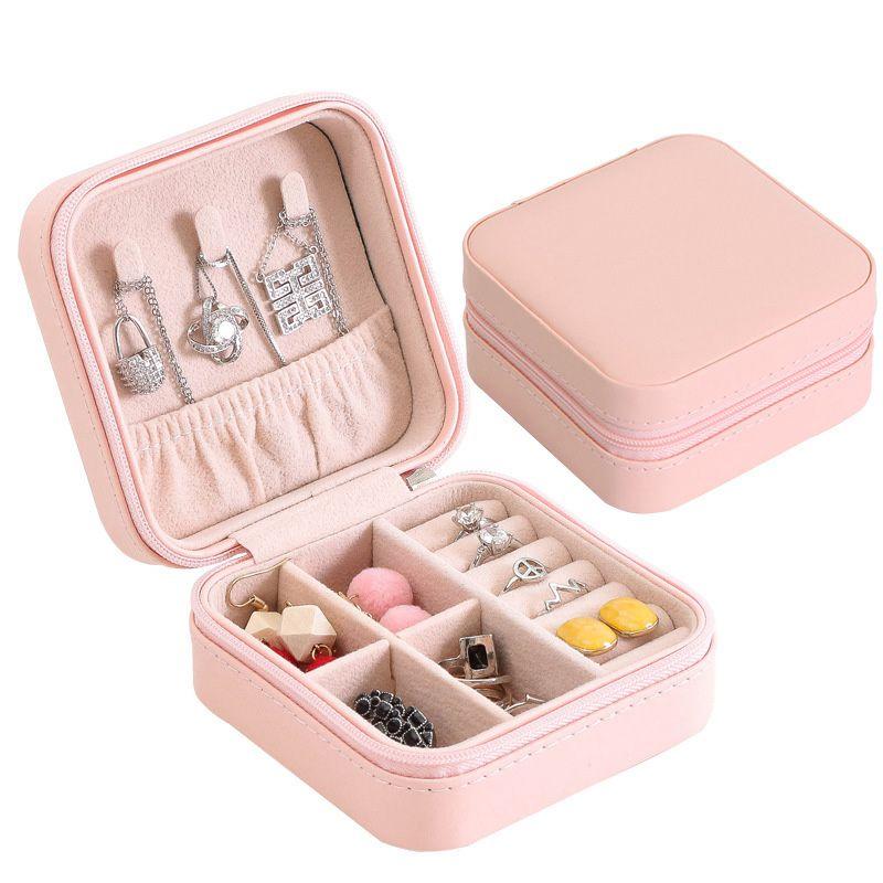 Portable-Jewelry-Box-Zipper-PU-Storage-Organizer-Jewelry-Holder-Packaging-D-U2G7 thumbnail 3