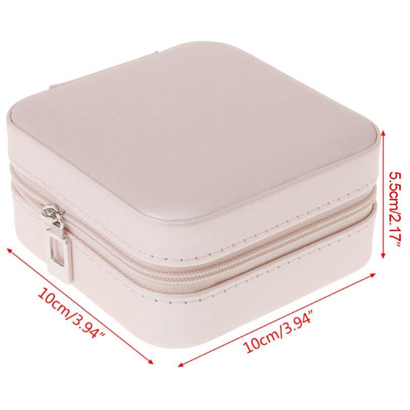 Portable-Jewelry-Box-Zipper-PU-Storage-Organizer-Jewelry-Holder-Packaging-D-U2G7 thumbnail 4