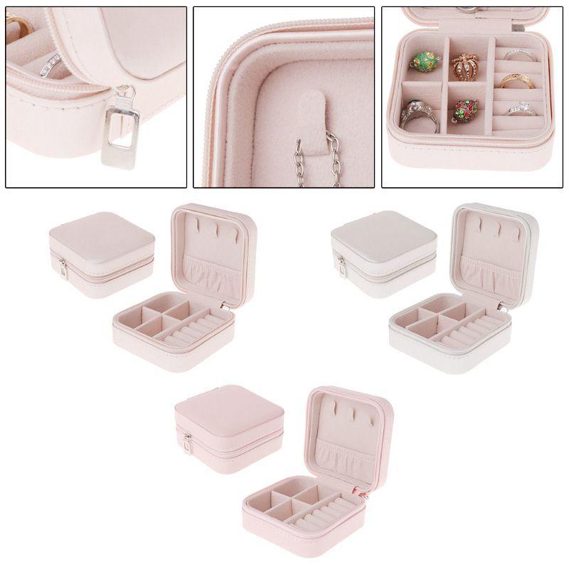 Portable-Jewelry-Box-Zipper-PU-Storage-Organizer-Jewelry-Holder-Packaging-D-U2G7 thumbnail 5