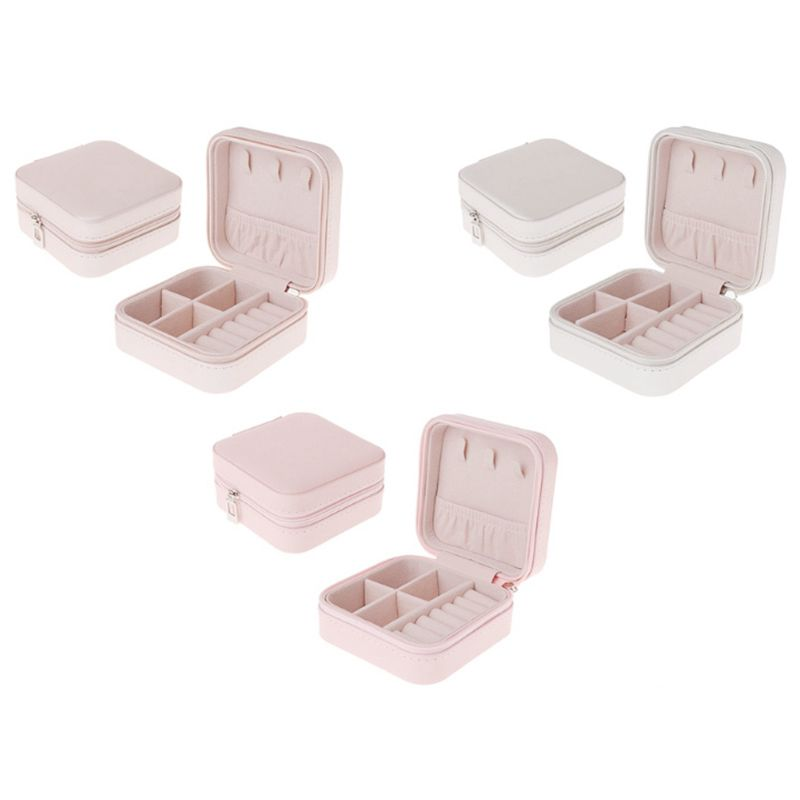 Portable-Jewelry-Box-Zipper-PU-Storage-Organizer-Jewelry-Holder-Packaging-D-U2G7 thumbnail 7