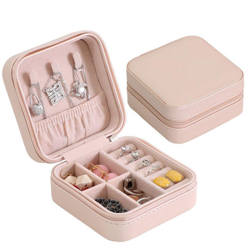 Portable-Jewelry-Box-Zipper-PU-Storage-Organizer-Jewelry-Holder-Packaging-D-U2G7 thumbnail 9