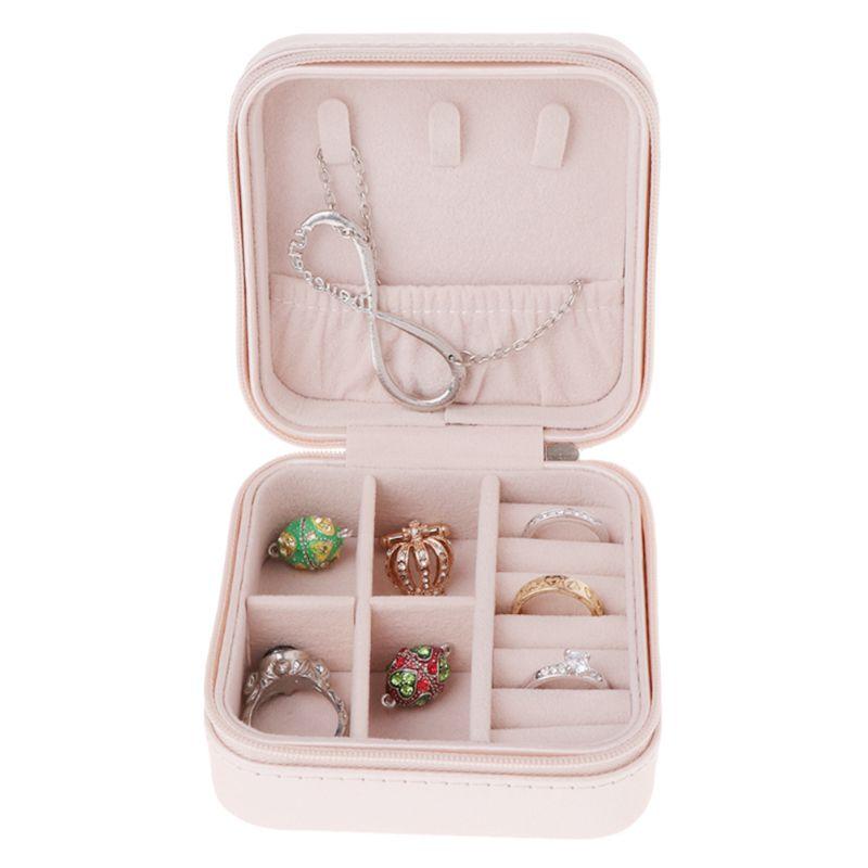 Portable-Jewelry-Box-Zipper-PU-Storage-Organizer-Jewelry-Holder-Packaging-D-U2G7 thumbnail 10