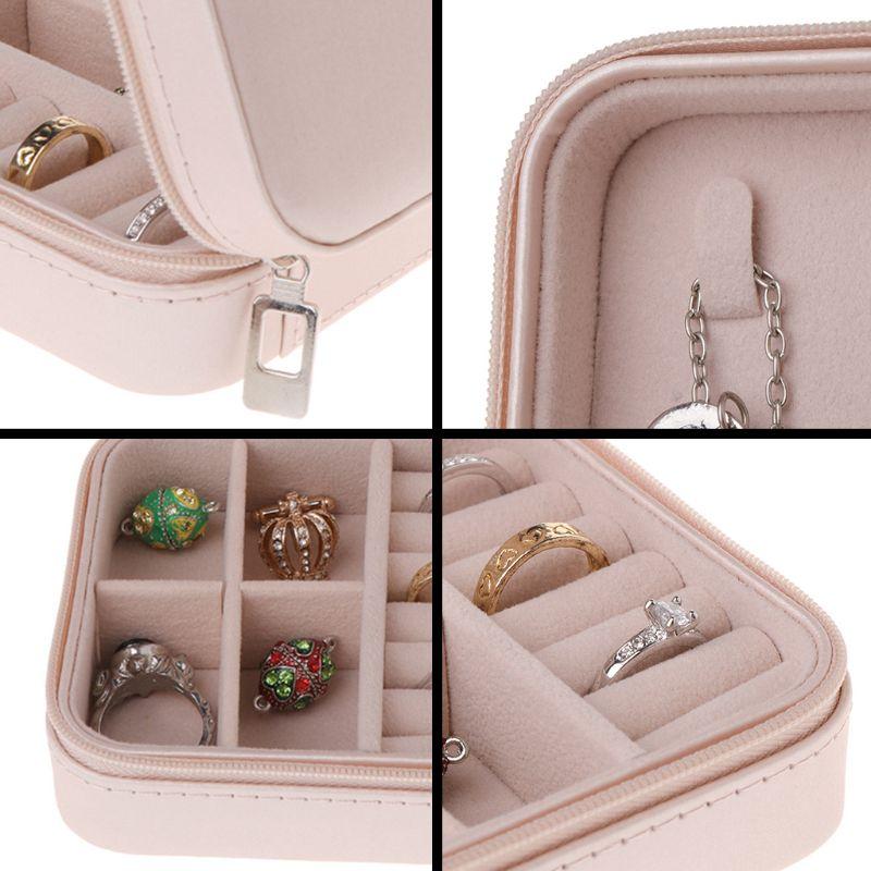 Portable-Jewelry-Box-Zipper-PU-Storage-Organizer-Jewelry-Holder-Packaging-D-U2G7 thumbnail 13