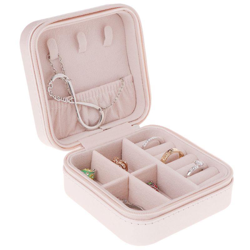 Portable-Jewelry-Box-Zipper-PU-Storage-Organizer-Jewelry-Holder-Packaging-D-U2G7 thumbnail 15