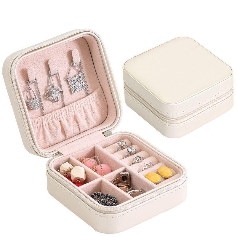 Portable-Jewelry-Box-Zipper-PU-Storage-Organizer-Jewelry-Holder-Packaging-D-U2G7 thumbnail 17