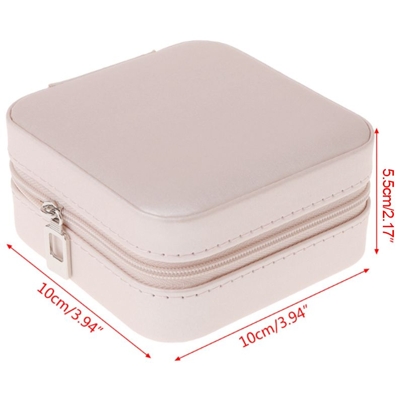 Portable-Jewelry-Box-Zipper-PU-Storage-Organizer-Jewelry-Holder-Packaging-D-U2G7 thumbnail 19