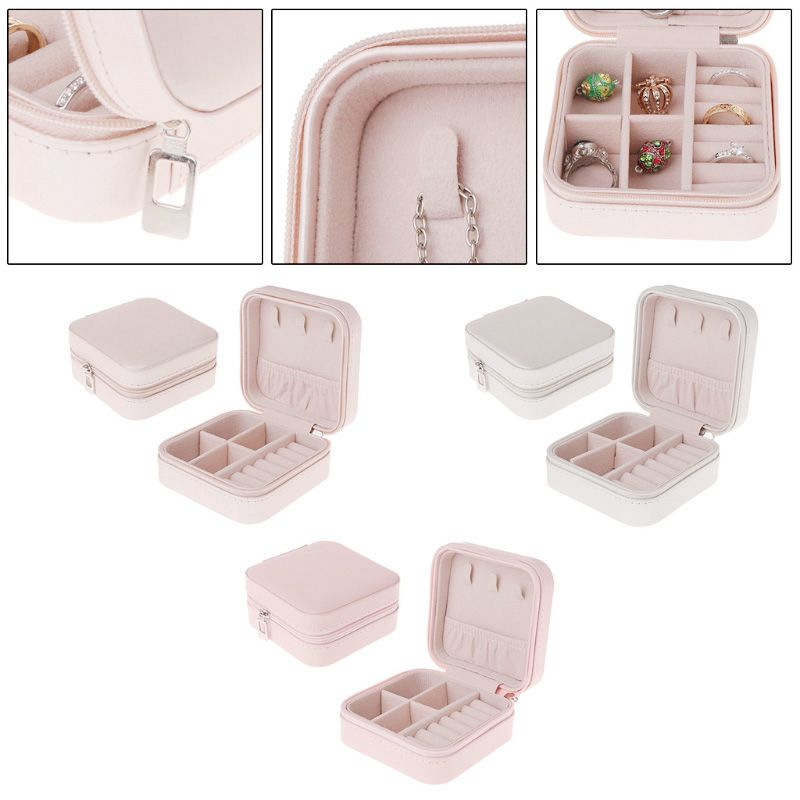 Portable-Jewelry-Box-Zipper-PU-Storage-Organizer-Jewelry-Holder-Packaging-D-U2G7 thumbnail 20