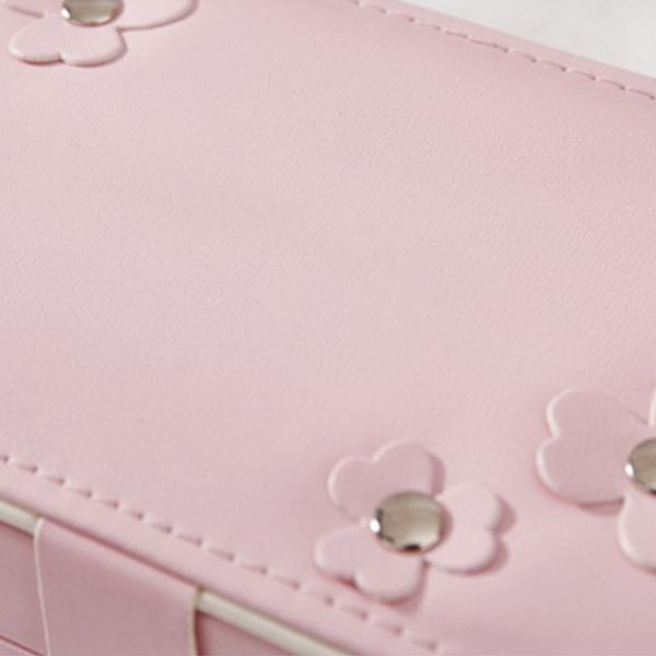 Portable-Women-Jewelry-Box-Storage-Organizer-Girls-Travel-2-Layer-Rectangle-I1J7 thumbnail 4