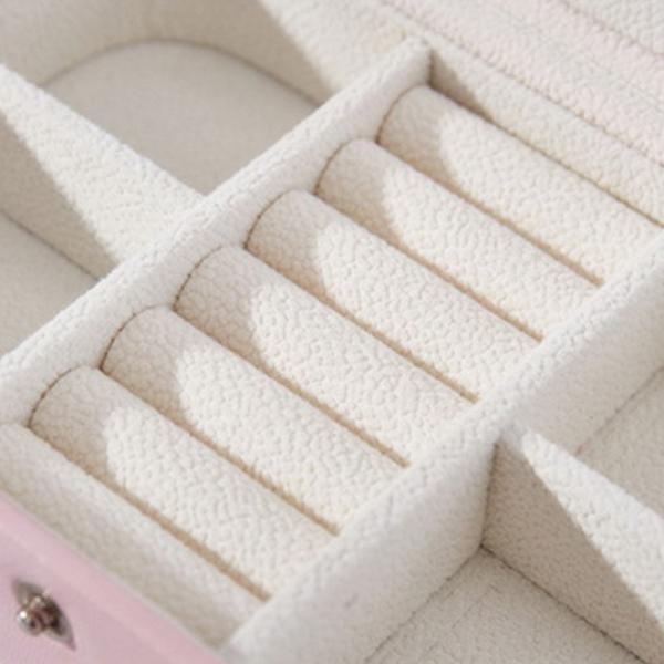 Portable-Women-Jewelry-Box-Storage-Organizer-Girls-Travel-2-Layer-Rectangle-I1J7 thumbnail 7