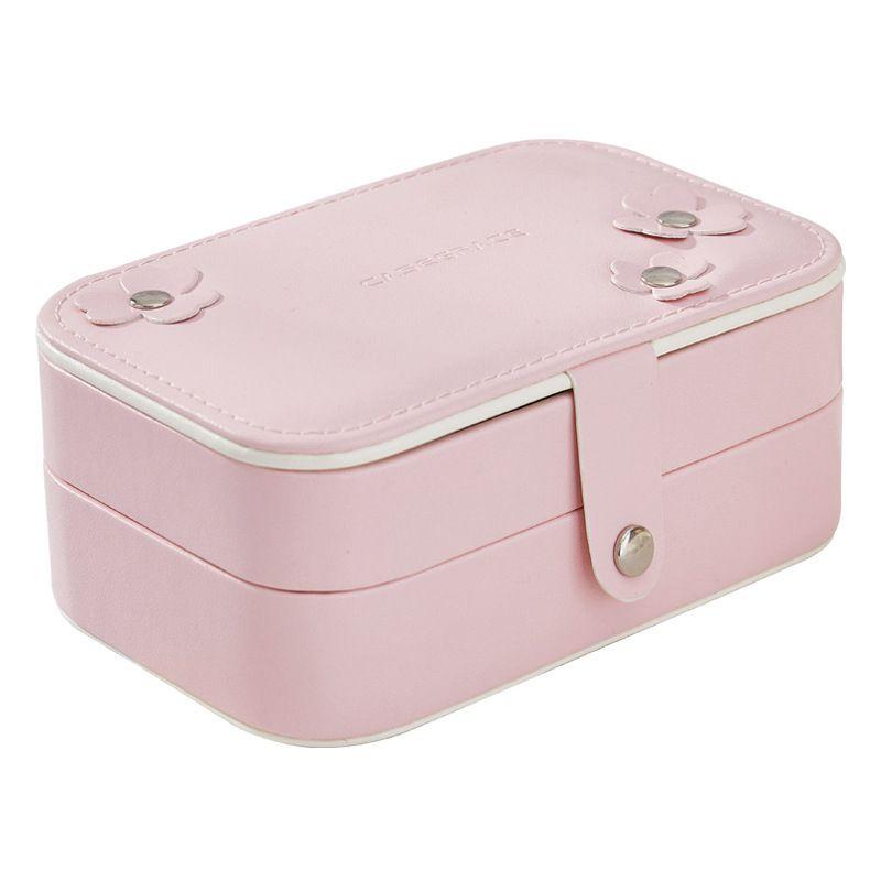 Portable-Women-Jewelry-Box-Storage-Organizer-Girls-Travel-2-Layer-Rectangle-I1J7