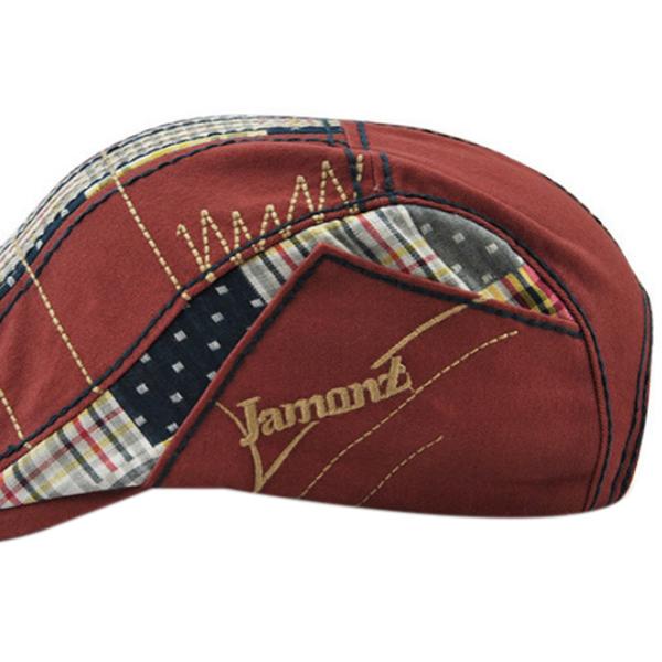1X-JAMONT-Chapeau-Beret-Patchwork-De-Coton-Chapeau-Plat-Casquette-Plate-A-C-D1H6 miniature 6