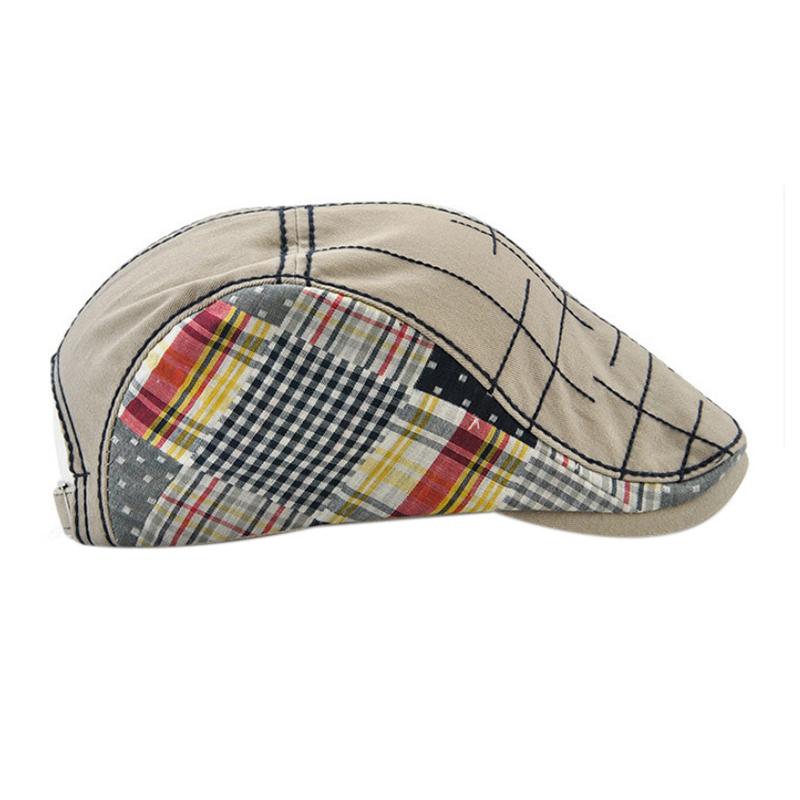 1X-JAMONT-Chapeau-Beret-Patchwork-De-Coton-Chapeau-Plat-Casquette-Plate-A-C-D1H6 miniature 21