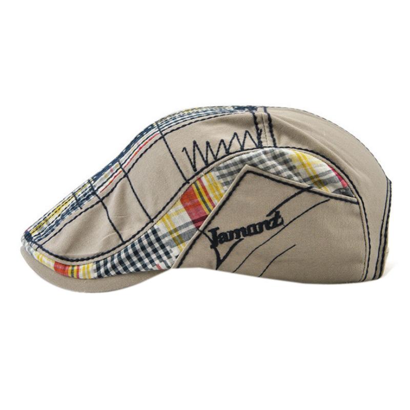 1X-JAMONT-Chapeau-Beret-Patchwork-De-Coton-Chapeau-Plat-Casquette-Plate-A-C-D1H6 miniature 22