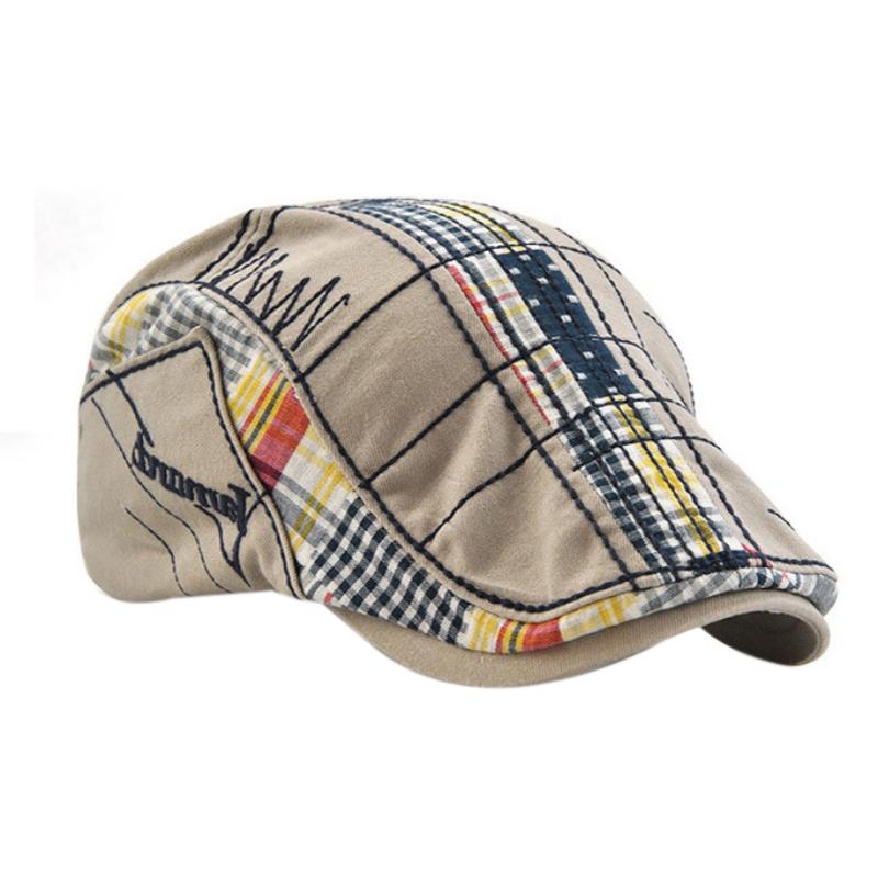 1X-JAMONT-Chapeau-Beret-Patchwork-De-Coton-Chapeau-Plat-Casquette-Plate-A-C-D1H6 miniature 24
