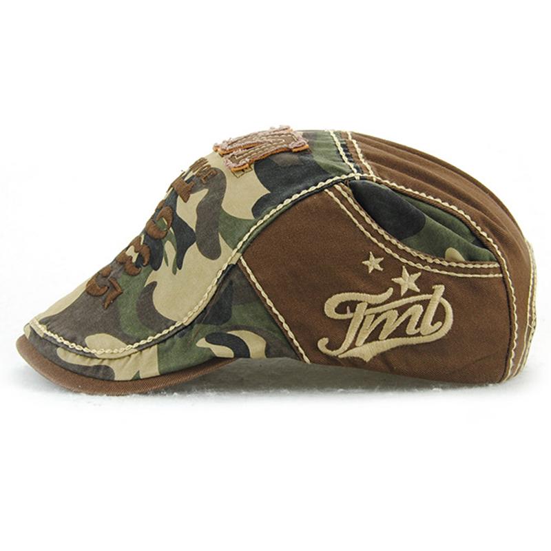 JAMONT-Beret-Militaire-Camouflage-Vintage-Boucle-De-Beret-De-Conduite-De-Gol-4F5 miniature 3