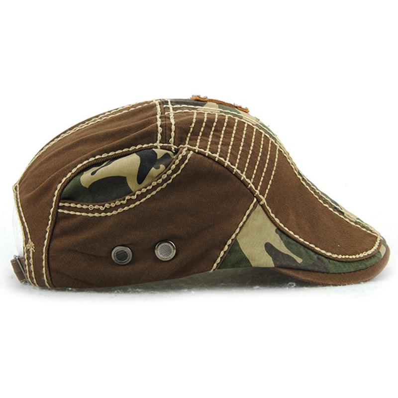 JAMONT-Beret-Militaire-Camouflage-Vintage-Boucle-De-Beret-De-Conduite-De-Gol-4F5 miniature 4
