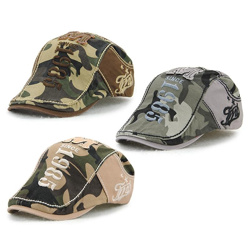 JAMONT-Beret-Militaire-Camouflage-Vintage-Boucle-De-Beret-De-Conduite-De-Gol-4F5 miniature 5