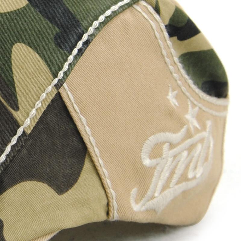 JAMONT-Beret-Militaire-Camouflage-Vintage-Boucle-De-Beret-De-Conduite-De-Gol-4F5 miniature 7