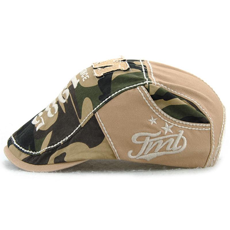 JAMONT-Beret-Militaire-Camouflage-Vintage-Boucle-De-Beret-De-Conduite-De-Gol-4F5 miniature 9