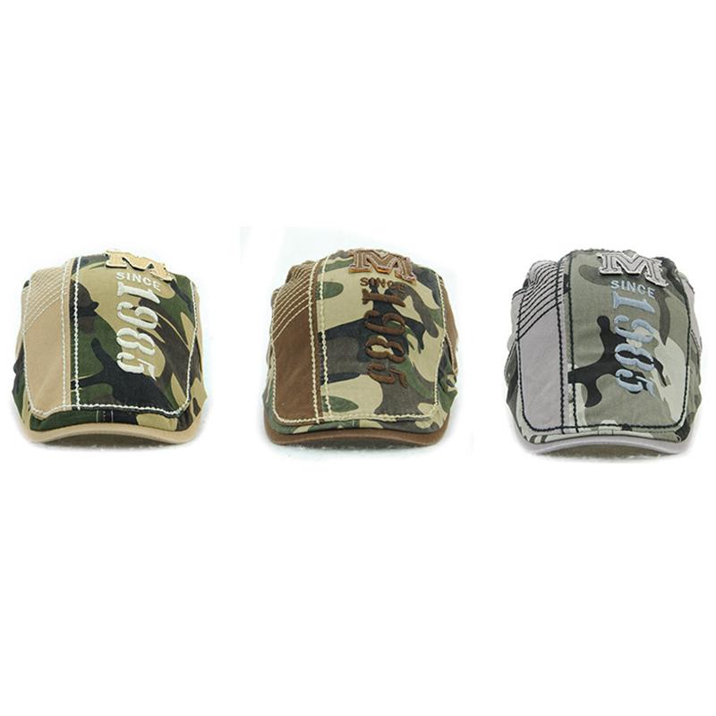 JAMONT-Beret-Militaire-Camouflage-Vintage-Boucle-De-Beret-De-Conduite-De-Gol-4F5 miniature 12