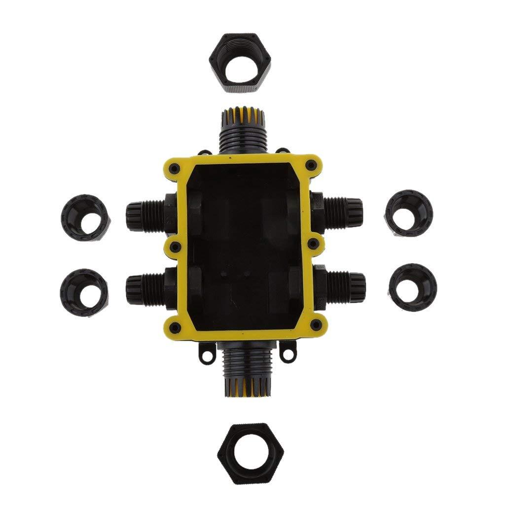 Schwarz Abzweigdose Klemmdose Wasserdicht IP68 Verteilerdose Verbindungsklemm 1A