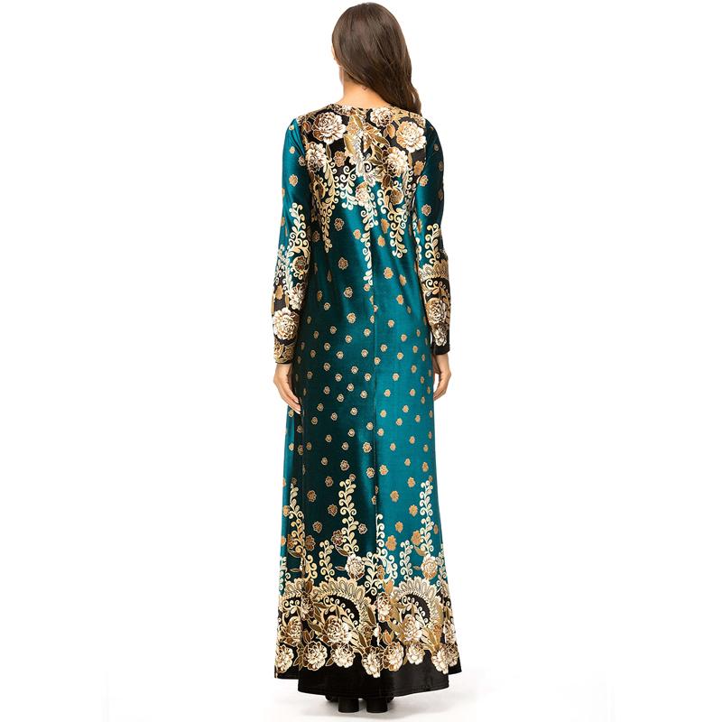 Robe-Longue-A-La-Mode-D-039-Automne-et-D-039-Hiver-pour-Femme-Robe-Longue-Imprimee-K2M6 miniature 8