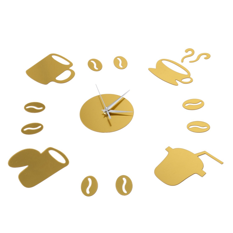 Coffee-Cups-3D-Diy-Wall-Clock-Acrylic-Stickers-Quartz-Modern-Home-Decoratio-C8M8 thumbnail 11