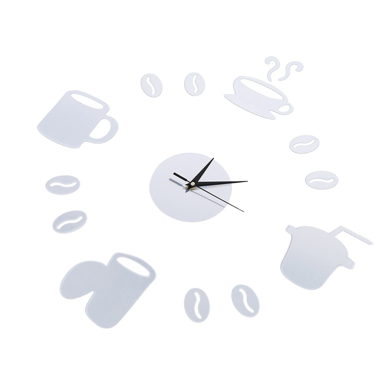 Coffee-Cups-3D-Diy-Wall-Clock-Acrylic-Stickers-Quartz-Modern-Home-Decoratio-C8M8 thumbnail 20
