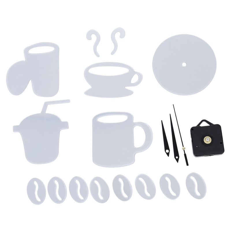 Coffee-Cups-3D-Diy-Wall-Clock-Acrylic-Stickers-Quartz-Modern-Home-Decoratio-C8M8 thumbnail 21