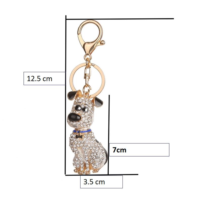 thumbnail 3 - South-Korean-Hot-Crystal-Puppy-Dog-Keychain-Key-Ring-Trinket-Purse-Bag-Car-Y5C7