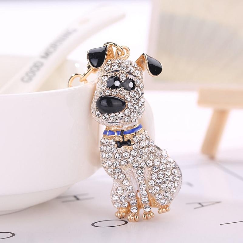 thumbnail 4 - South-Korean-Hot-Crystal-Puppy-Dog-Keychain-Key-Ring-Trinket-Purse-Bag-Car-Y5C7