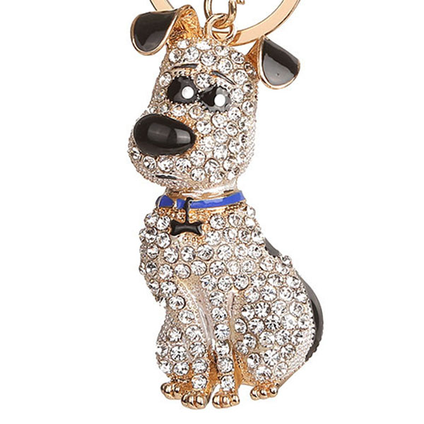 thumbnail 7 - South-Korean-Hot-Crystal-Puppy-Dog-Keychain-Key-Ring-Trinket-Purse-Bag-Car-Y5C7
